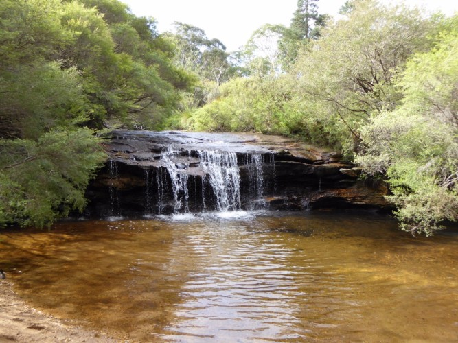 Australia Sandstone Layers Add Character to this Waterfall