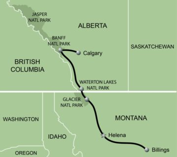 AVA Convention & Canadian Rockies Map