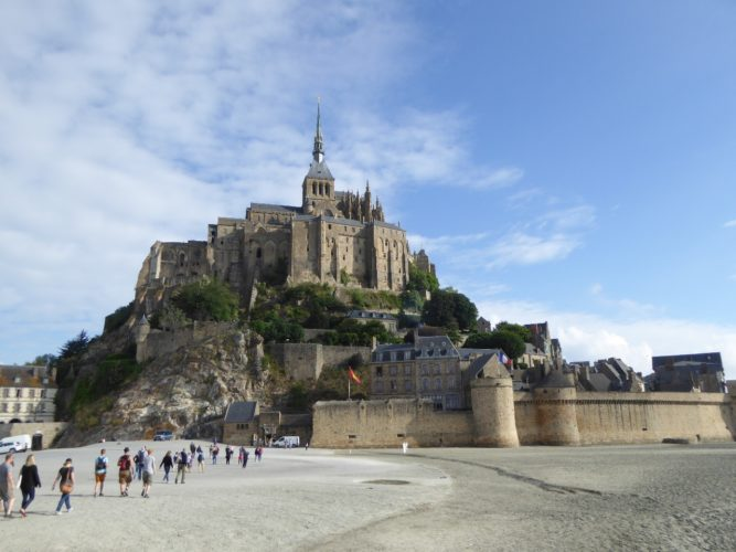 Arrival at Mont Saint-Michel