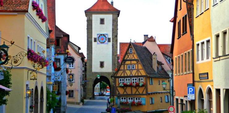 Germany Rothenburg ob der Tauber Hospital Gate