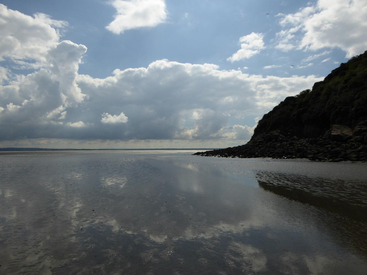 Reflection on Mont Saint-Michel Bay